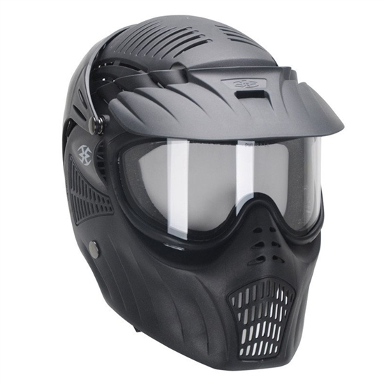 Empire Tactical X-Ray PROtector Full Head Complete Coverage Airsoft Mask w/ Thermal Lens - Black