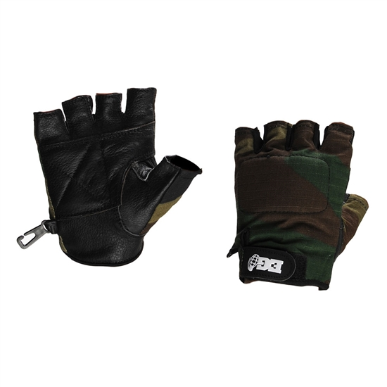 Enola Gaye Half Finger Tactical Airsoft Gloves - Camo