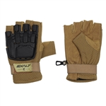 Exalt Hard Shell Tactical Airsoft Gloves - Tan