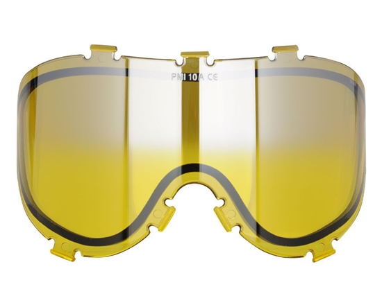 Empire Dual Pane Anti-Fog Ballistic Rated Thermal Lens For X-Ray Masks (Yellow Mirror Gradient) (21451)