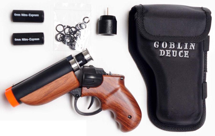 goblin deuce double barrel airsoft pistol player set