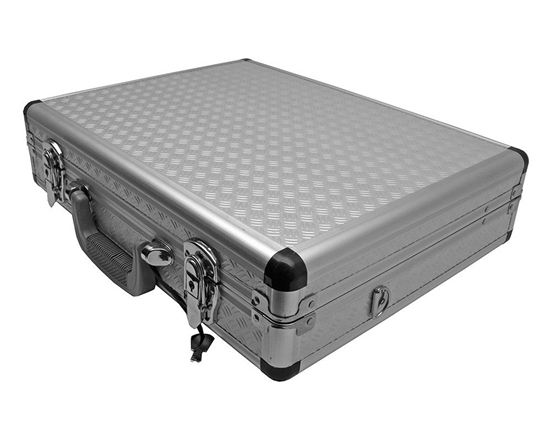 Diamond Plate Gun Case - Silver