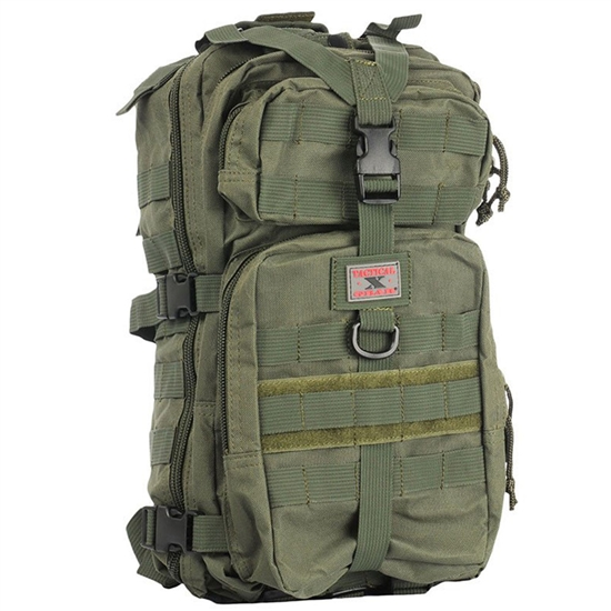 Gen X Global Mini Tactical Backpack w/ Molle Attachments - Olive