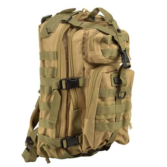 Gen X Global Mini Tactical Backpack w/ Molle Attachments - Tan