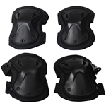 Gen X Global Tactical Airsoft Elbow & Knee Pad Set - Black