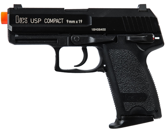 H&K USP Compact Competition Gas Airsoft Pistol Blowback Hand Gun - Black