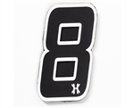 HK Army Airsoft Rubber Velcro Patch - Number 8