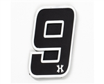 HK Army Airsoft Rubber Velcro Patch - Number 9