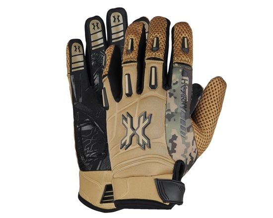 HK Army Full Finger Hardline Tactical Airsoft Gloves - Tan HSTL Camo