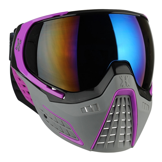 HK Army Tactical KLR Full Face Airsoft Mask - Slate Black/Purple