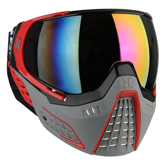HK Army Tactical KLR Full Face Airsoft Mask - Slate Black/Red