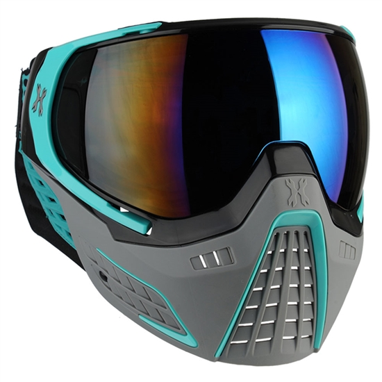 HK Army Tactical KLR Full Face Airsoft Mask - Slate Black/Teal
