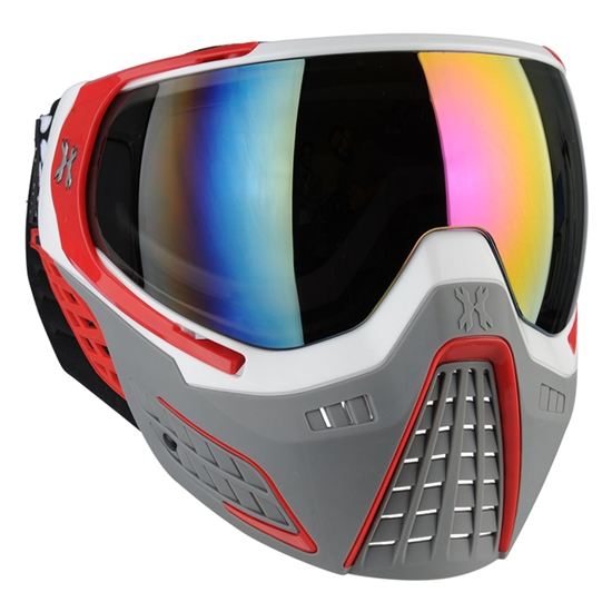 HK Army Tactical KLR Full Face Airsoft Mask - Slate White/Red