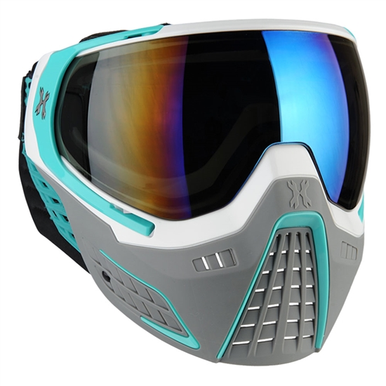HK Army Tactical KLR Full Face Airsoft Mask - Slate White/Teal