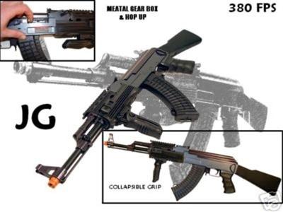 420 FPS JG Full Metal Gearbox AK47 Tactical RIS AEG w/ Integrated Rail  System - Newest Enhanced Version