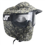 JT Tactical Alpha Full Face Airsoft Mask w/ Single Lens - Olive Skull