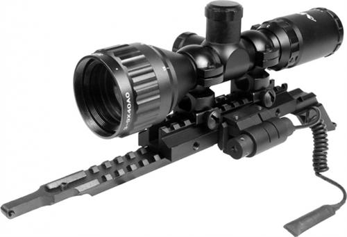 AIM Sports AK / SAIGA Tactical Combo (3-9x, 40mm) AO Compact Scope Combo W/  Red Laser