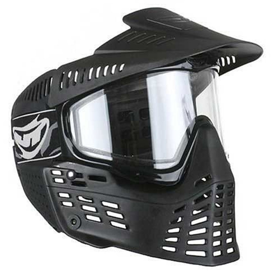 JT Tactical Flex Spectra Full Face Airsoft Mask w/ Thermal Lens - Black