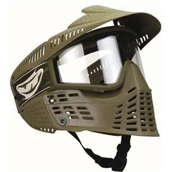 JT Tactical Flex Spectra Full Face Airsoft Mask w/ Thermal Lens - Olive