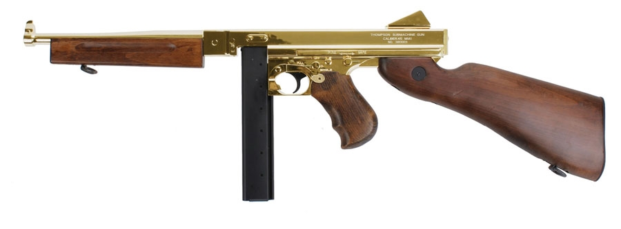 "Thompson Gun For Sale >> King Arms ""Limited Edition"" Thompson Military M1A1 Full Metal Airsoft Gun ( Gold )"