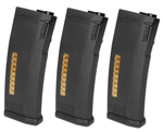 KWA M4 / M16 Airsoft MS120 ERG/AEG 2.5/AEG Mid Cap Rifle Magazine - 3 Pack
