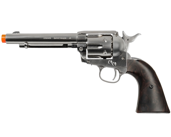 Legends Smoke Wagon CO2 Revolver Airsoft Pistol - Nickel