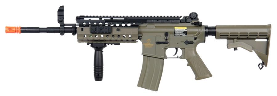 Lancer Tactical M4 SSystem    AEG    Airsoft Gun   Dark Earth   LT05T