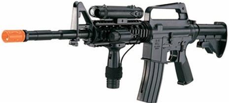 wellfire m16a4 spring airsoft m4 gun with laser