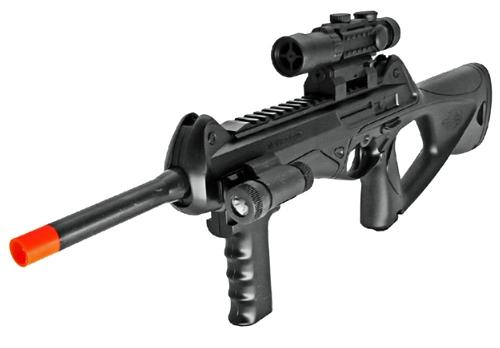 Ukarms M182 Spring Airsoft Gun W Flashlight Mock Scope Laser