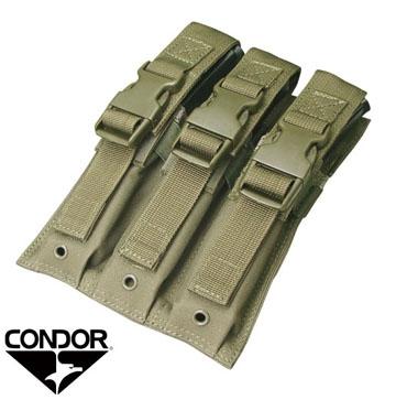 Condor Tactical Triple SMG / UZI / MP5 MOLLE Pouch ( OD Green )