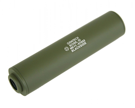 MadBull Gemtech Blackside (CCW) Airsoft Barrel Extension Silencer - Olive Drab