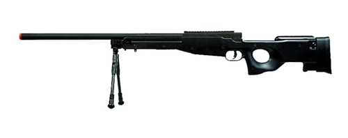 Bravo Sniper Rifle Mk98 in BlackTYPE 96 Airsoft OPS Bolt Action Guns  MB01