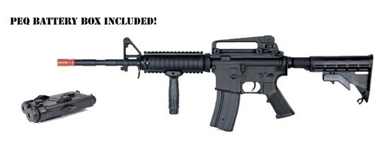 mp032 full metal body agm m4 a1 carbine aeg airsoft gun w peq box