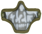 Bravo TacGear V1 Strike Steel Wire Mesh Airsoft Face Mask ( Skull OD )