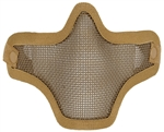 Bravo TacGear V1 Strike Steel Wire Mesh Airsoft Face Mask ( Tan )