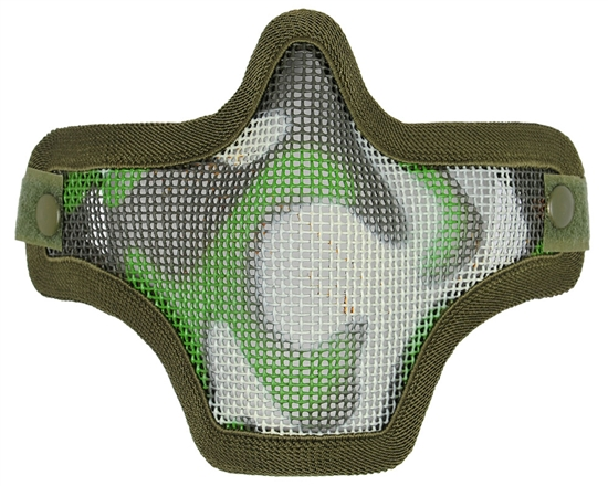 Bravo TacGear V1 Strike Steel Wire Mesh Airsoft Face Mask ( Woodland )