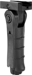 AIM Sports Ergonomic Tactical Folding Foregrip w/ Double Pressure Pad Housing Vertical Hand Grip (MT007FH-T)