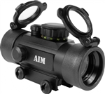 AIM Sports 1x30 Multi-Reticle Red / Green Dot Scope w/ 10 Intensity Levels & Flip Up Lens Covers