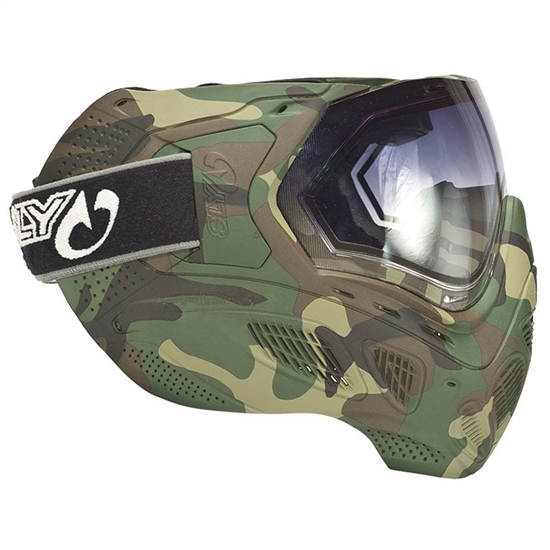 Sly Tactical Profit Full Face Airsoft Mask - Full Woodland Camo Print