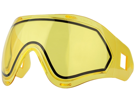 Valken Dual Pane Anti-Fog Ballistic Rated Thermal Lens For Identity/Profit Masks (Yellow)
