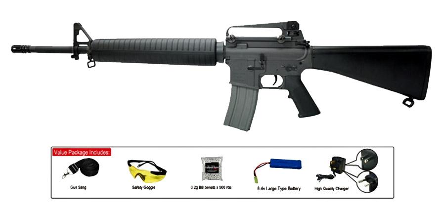 classic army armalite m16a4 carbine aeg airsoft gun sportline