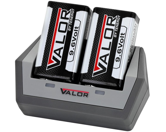 Tenergy 9.6V 230mAh Valor Rechargeable Battery & Charger Kit