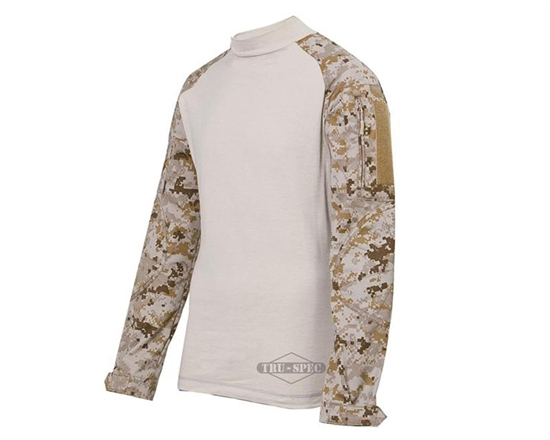 Truspec Tactical Response Uniform Combat Shirt - Desert Digital/Sand
