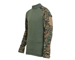 Truspec Tactical Response Uniform Combat Shirt - Woodland Digital/Olive Drab
