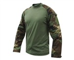 Truspec Tactical Response Uniform Combat Shirt - Woodland/Olive Drab