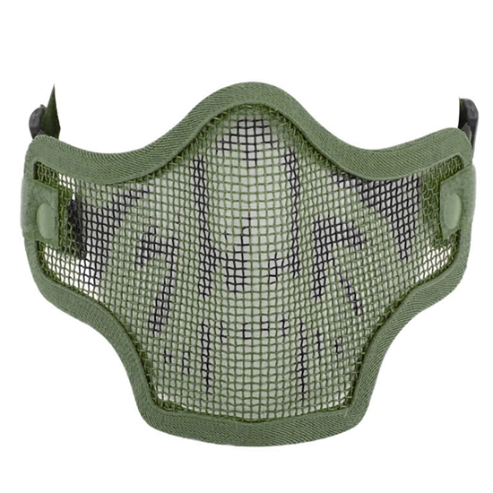 Valken Tactical 2G Wire Mesh Airsoft Face Mask - Green Skull