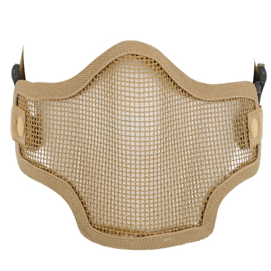 Valken Tactical 2G Wire Mesh Airsoft Face Mask - Tan