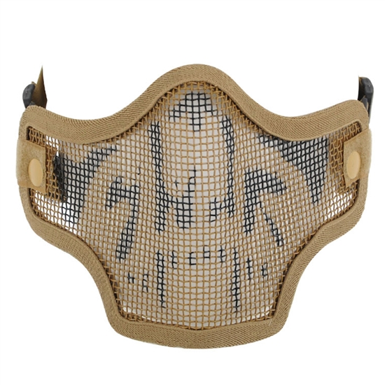 Valken Tactical 2G Wire Mesh Airsoft Face Mask - Tan Skull
