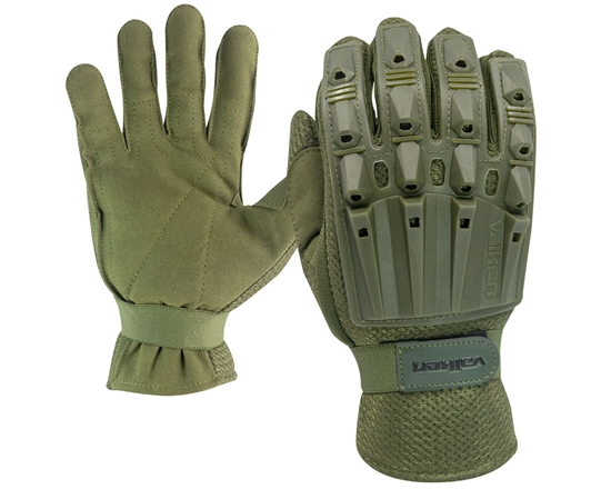 Valken Alpha Full Finger Polymer Armored Tactical Gloves - Olive