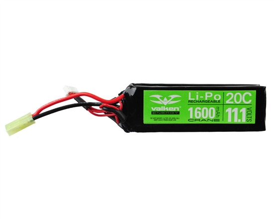 Valken 11.1v 1600mAh Split LiPo Airsoft Battery (48207)